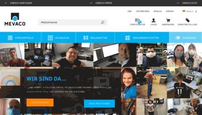 What Mevaco.de website looked like in 2020 (1 year ago)