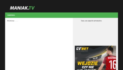 What Maniak.tv website looked like in 2020 (1 year ago)