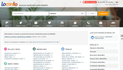 What Medellin.locanto.com.co website looked like in 2020 (1 year ago)