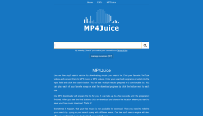 What Mp4juice.cc website looked like in 2020 (1 year ago)