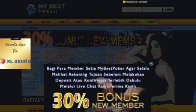 What Mybestpoker.net website looked like in 2020 (1 year ago)