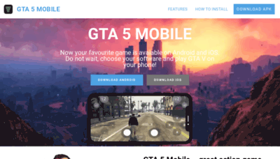 What Mobilegta5.net website looked like in 2020 (This year)