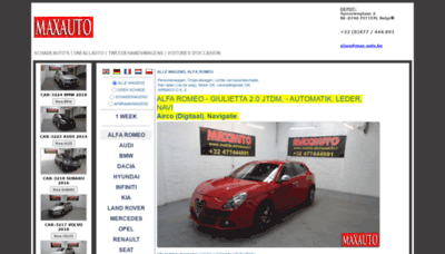 What Max-auto.be website looked like in 2020 (1 year ago)