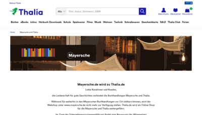 What Mayersche.de website looked like in 2020 (1 year ago)