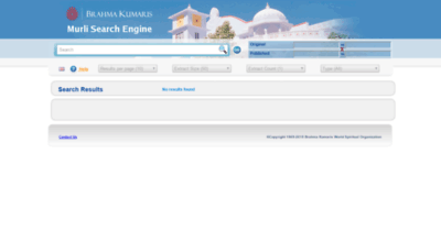 What Murlisearch.brahmakumaris.org website looked like in 2020 (1 year ago)