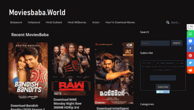 What Moviesbaba.kim website looked like in 2020 (1 year ago)