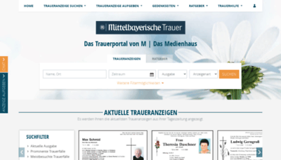 What Mittelbayerische-trauer.de website looked like in 2020 (This year)