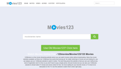 What Movies123.watch website looked like in 2020 (1 year ago)