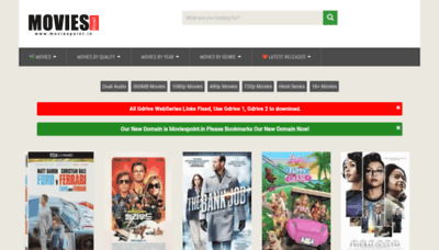 What Moviespoint.in website looked like in 2020 (1 year ago)