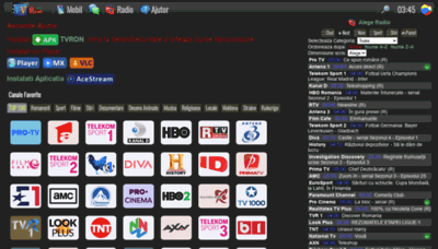 What M.tvron.net website looked like in 2020 (This year)