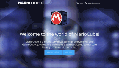 What Mariocube.xyz website looked like in 2020 (This year)