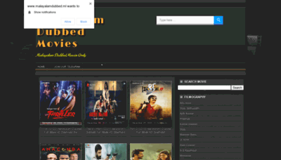 What Malayalamdubbed.ml website looked like in 2020 (This year)