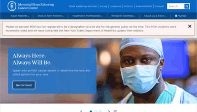 What Mskcc.org website looks like in 2021