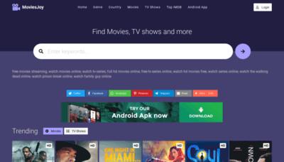 What Moviesjoy.net website looks like in 2021