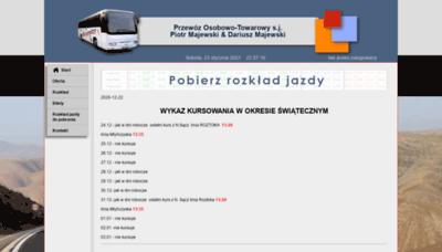 What Majewskibus.pl website looks like in 2021