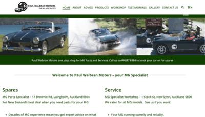 What Mgparts.co.nz website looks like in 2021