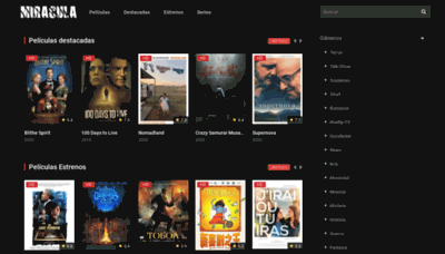 What Miracula.tv website looks like in 2021
