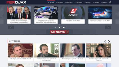 What Merojax.tv website looks like in 2021