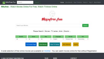 What M4ufree.fun website looks like in 2021