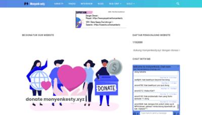 What Monyenkesty.xyz website looks like in 2021
