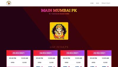 What Mainmumbaipk.in website looks like in 2021