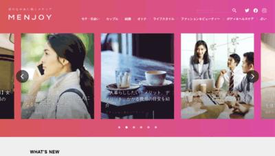 What Men-joy.jp website looks like in 2021