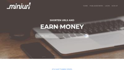 What Miniurl.pw website looks like in 2021
