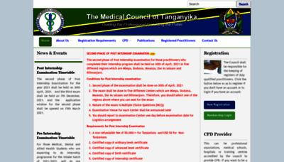 What Mct.go.tz website looks like in 2021
