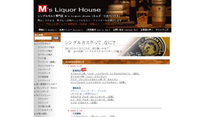 What Ms-liquorhouse.jp website looks like in 2021
