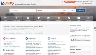What Medellin.locanto.com.co website looks like in 2021
