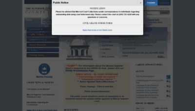 What Mercedcourt.org website looks like in 2021