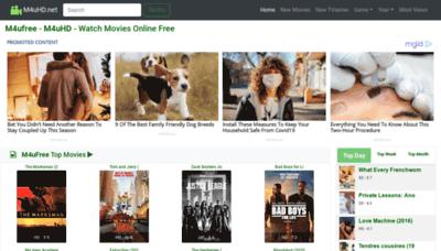 What M4uhd.net website looks like in 2021