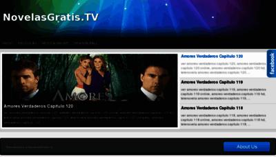 What Novelasgratis.tv website looked like in 2013 (8 years ago)