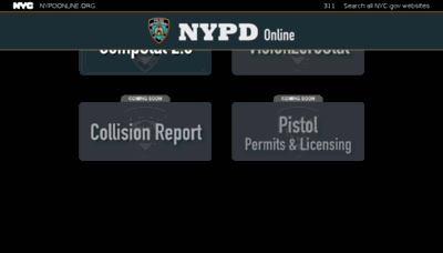What Nypdonline.org website looked like in 2016 (4 years ago)