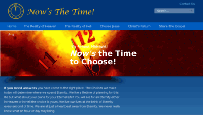 What Nowsthetime.org website looked like in 2017 (4 years ago)