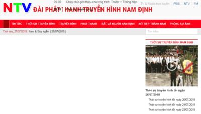 What Namdinhtv.vn website looked like in 2018 (3 years ago)