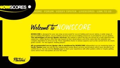 What Nowscore.co website looked like in 2018 (2 years ago)