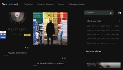 What Newpelis.net website looked like in 2018 (3 years ago)