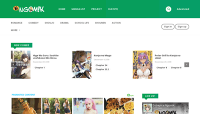 What Ngomik.in website looked like in 2018 (2 years ago)