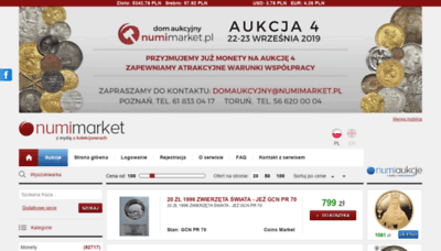 What Numimarket.pl website looked like in 2019 (2 years ago)