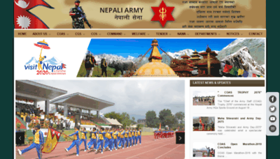 What Nepalarmy.mil.np website looked like in 2019 (2 years ago)
