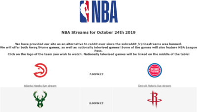 What Nba4live.xyz website looked like in 2019 (1 year ago)