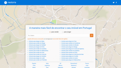 What Nestoria.pt website looked like in 2019 (1 year ago)