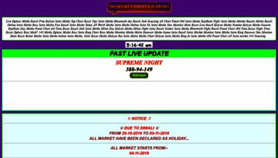 What Newsattamatka.mobi website looked like in 2019 (1 year ago)