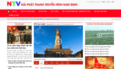 What Namdinhtv.vn website looked like in 2019 (1 year ago)