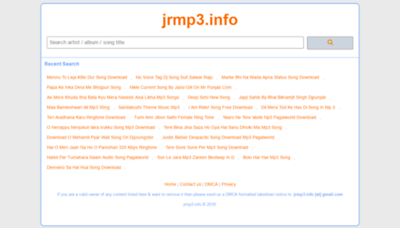 What New.jrmp3.info website looked like in 2019 (1 year ago)
