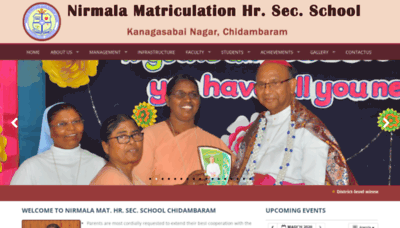 What Nirmalacdm.org website looked like in 2020 (1 year ago)
