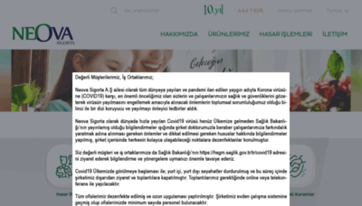 What Neova.com.tr website looked like in 2020 (1 year ago)