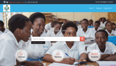 What Nabisunsagirls.ac.ug website looked like in 2020 (1 year ago)