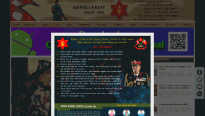 What Nepalarmy.mil.np website looked like in 2020 (1 year ago)